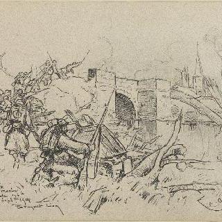 1914년 탈취한 생프리의 모랭 다리