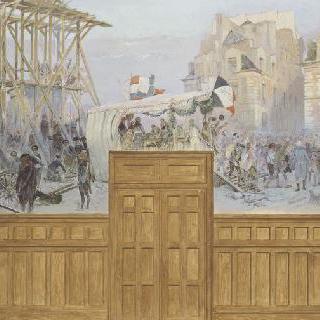 파리의 1792년 자원병들, 퐁눼프 위