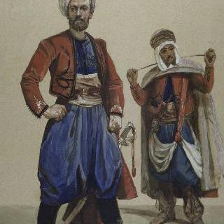 1860년 프랑스 하사관과 아프리카 원주민 기병