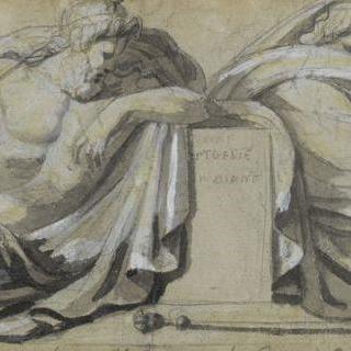 이피제니의 운명을 한탄하는 아가멤논과 메넬라오스