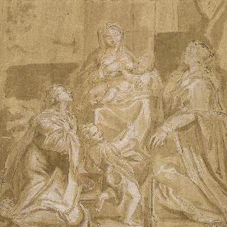 성녀 마들렌느, 성 요한, 성녀 세실리아와 함께 있는 영광의 성모