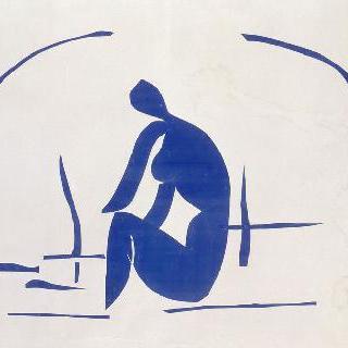 갈대속에서 목욕하는 여인
