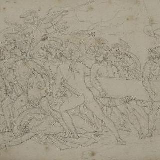 파벽추를 가져가는 그리스 군인들
