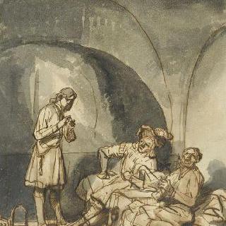 헌작 시종과 제빵 시종에게 꿈을 설명하는 감옥 안의 요셉