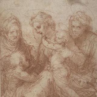 성녀, 성 엘리자베스와 어린 성 요한과 함께 있는 아기 예수를 안고 있는 성모 ()