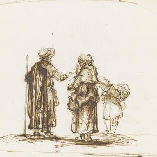 하갈과 이스마엘을 되돌려보내는 아브라함