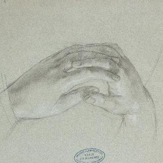 교차한 손 습작