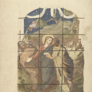 감람산에서의 예수의 체포 (스테인드글라스 계획안)
