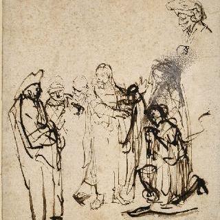 그리스도와 간통한 여인, 분리된 두상 습작