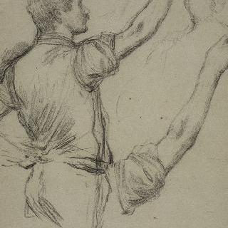 남자 습작, 두상 스케치 이미지