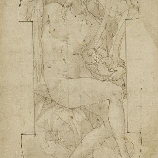 리라를 든 앉아있는 아폴론