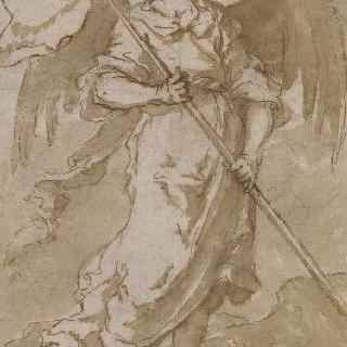 그리스도의 수난의 도구를 들고 있는 천사 연작 : 기를 들고 있는 천사