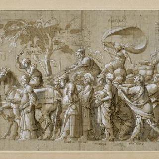 부유함의 승리 : 플루토스, 행운의 여신과 수많은 행렬