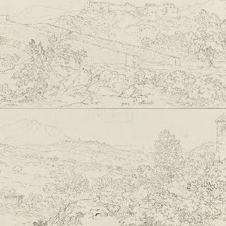 다리와 요새화된 어느 도시 : 울퉁불퉁한 풍경