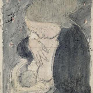 검은 블라우스를 입은 어머니에 대한 습작 ; 모성애