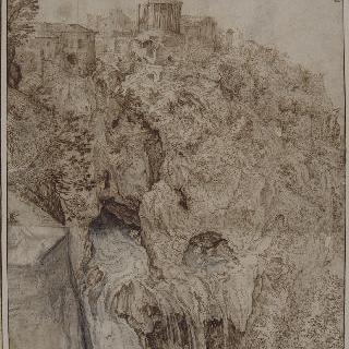 무녀의 신전이 있는 티볼리의 풍경