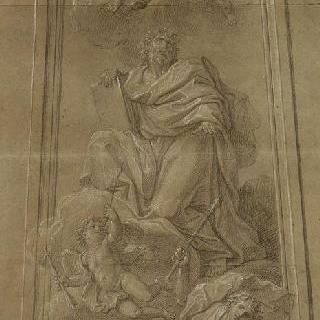 천사들에 둘러 쌓인 사도 : 성 도마
