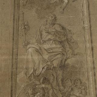 천사들에 둘러 쌓인 사도 : 대인 성 야고보