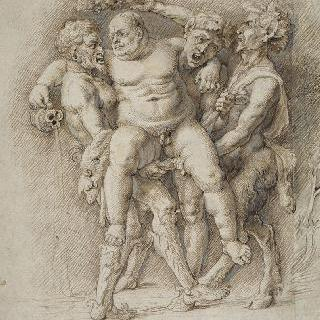 사티로스와 두 명의 목신에게 납치되는 바다요정