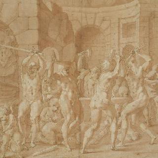 불카누스의 대장간 안의 키클로페스 , 퐁텐블로성의 왕 집무실을 위한 습작