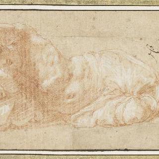 누워있는 반라의 남자 : 사투르누스