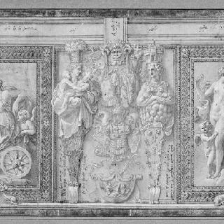 프리아포스, 케레스, 시벨레와 바쿠스의 표현과 프시케와 에로스가 있는 화판