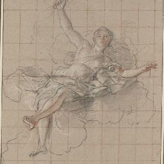 구름 위에 누워 있는 테미스 또는 정의의 신