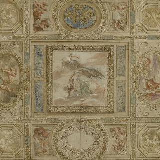 앙리 4세 문자와 프로메테우스의 이야기가 있는 천장 초안