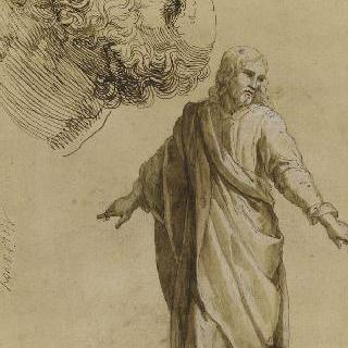 서 있는 그리스도 ; 수염난 노인의 두상