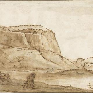 크레센차 부근의 붉은 바위의 풍경