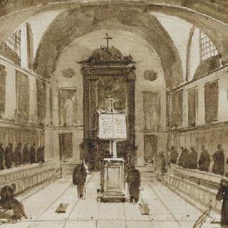 로마 카푸생 성당의 합창대 내부