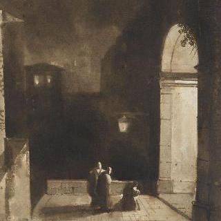 산 바스티아넬로 벽감쪽의 트리니테 계단의 층계참