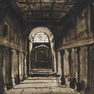 로마의 미네르바 메디카 신전 부근의 산타 비비아나 대성당