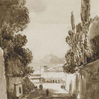 광장과 프랑스카티 성문으로 이어지는 길