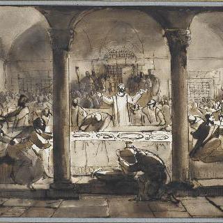 샤토브리앙의 순교풍의 기독인들의 식사