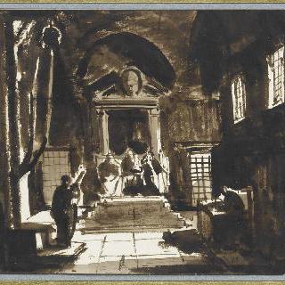 재판관들에게 답하는 갈릴레오