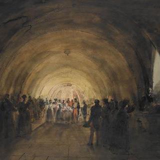 외성당의 지하 묘소를 방문하는 루이 필립과 빅토리아 왕비