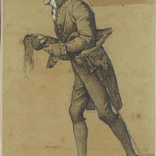 왕이 주고 간 작은 끈을 들고 있는 카르텔리에르씨, 조각가