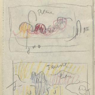 화첩 : 색채가 지정되어 있는 틀 속의 풍경