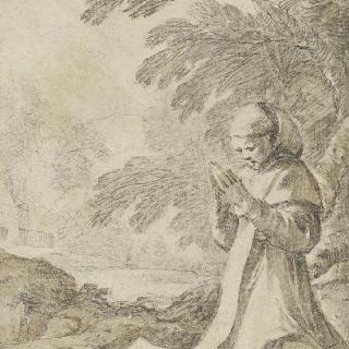 사색하는 무릎꿇은 성 피아크르