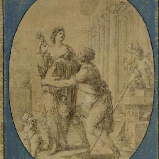 갈라테이아라고 명명한 동상에 몰도한 피그말리온