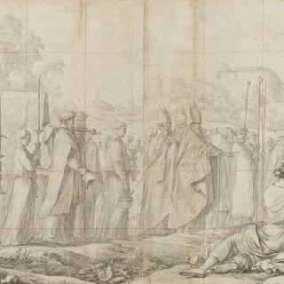 시온의 성당으로 옮겨지는 성 스테파노의 시신