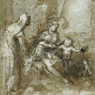성 가족 : 아기 예수를 안고 있는 성모, 성녀 엘리자베스와 성 요한