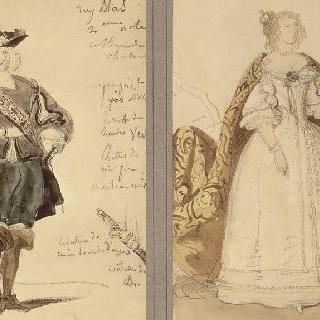 뤼 블라스의 의상 모형, 뤼 블라스 (2막) 와 왕비 (1막)