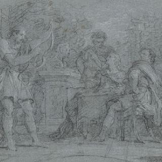 텔레마코스와 오디세우스의 도착