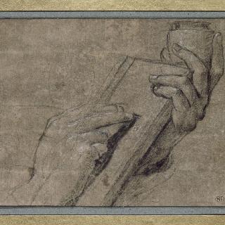 글쓰는 남자의 두 손 습작