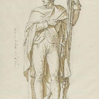 브리단풍의 제 1 연대의 포병 동상