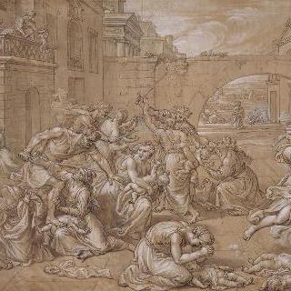헤롯왕에게 학살당하는 아기들