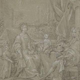 영국 자크 2세왕과 가족