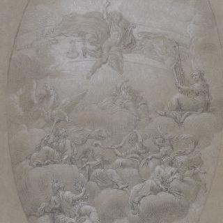 아폴론, 페가수스와 요정들
